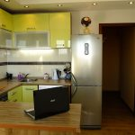 Лимонная кухонная мебель