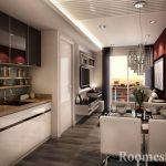 Потолок со встроенными светильниками