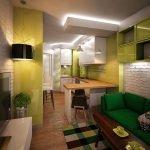 Яркая мебель в квартире