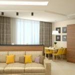 Зал и кухня в одной комнате