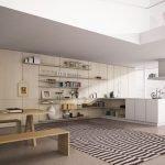 Светлый потолок в квартире-студии