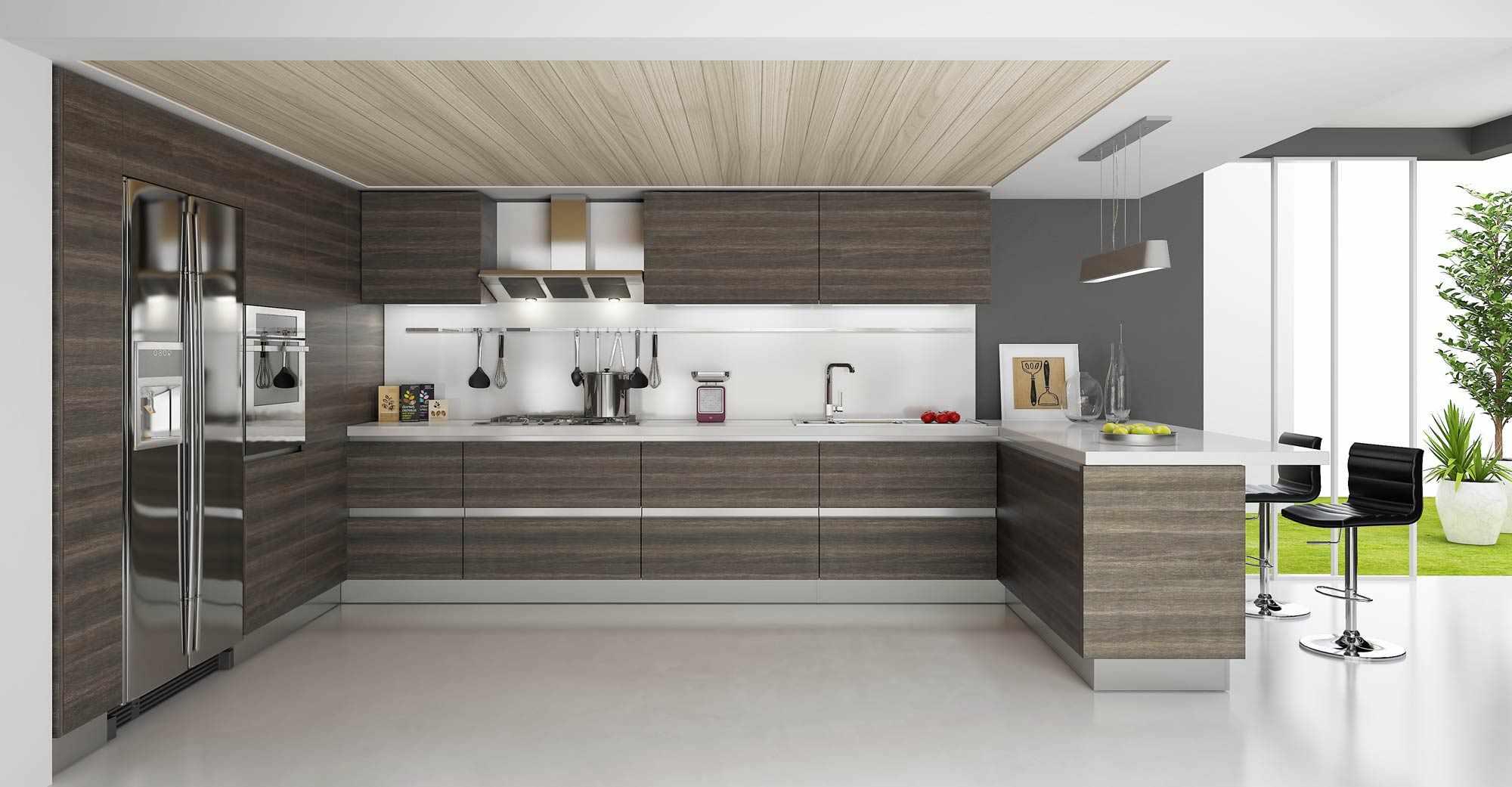 Кухонный гарнитур на кухне в стиле модерн