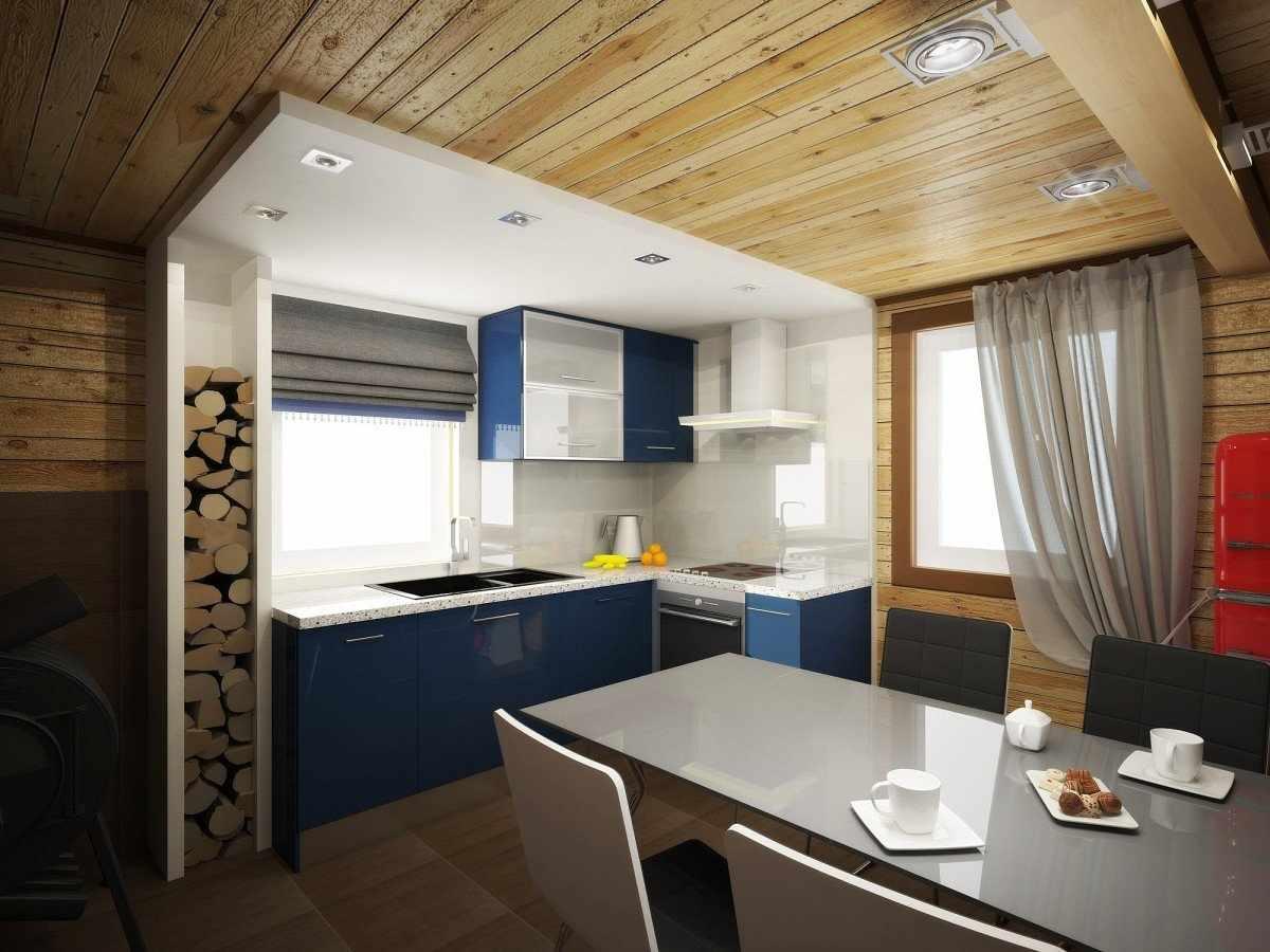 Сочетание современного и деревенского стилей