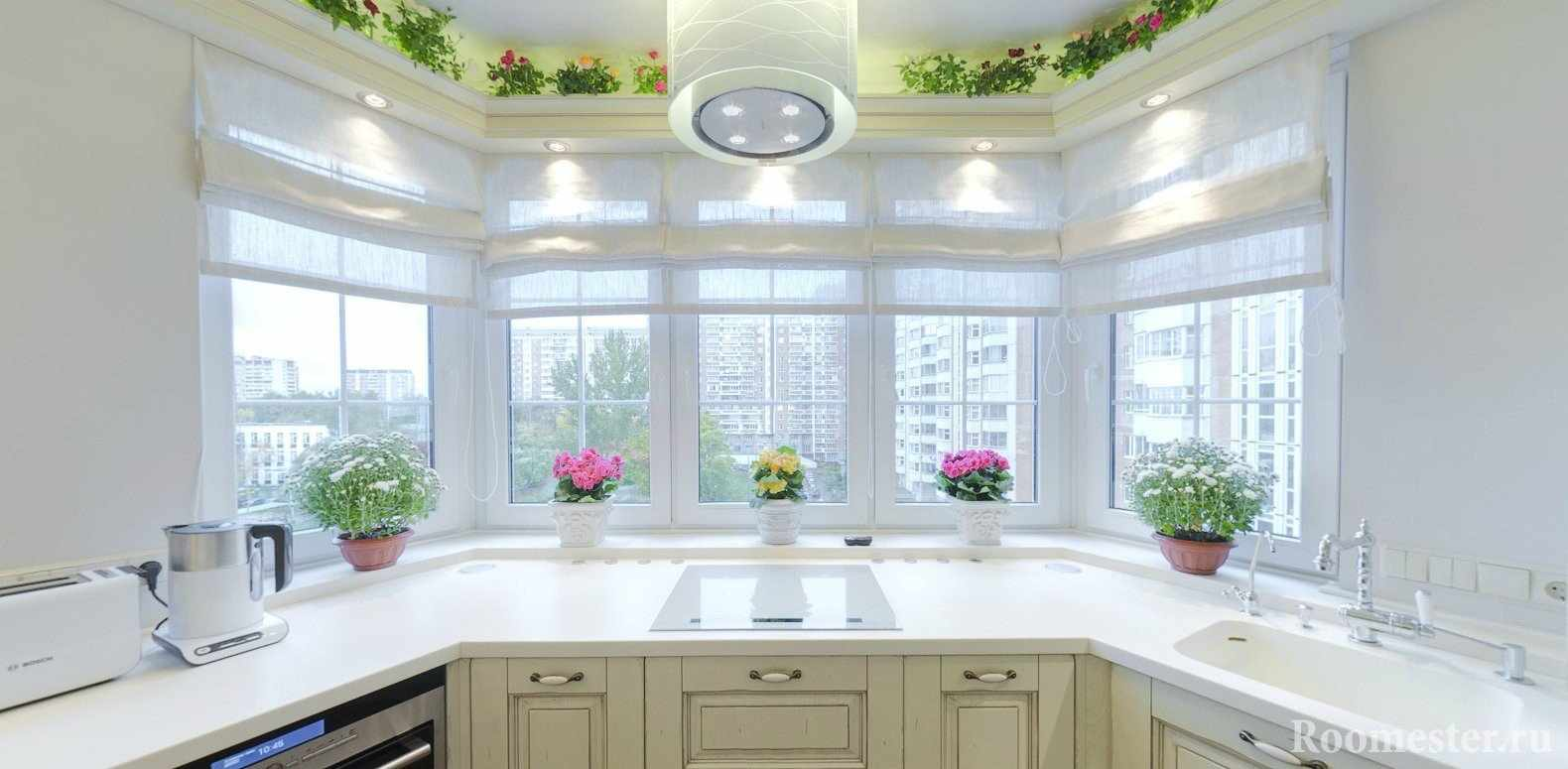 Кухня светло бежевого цвета