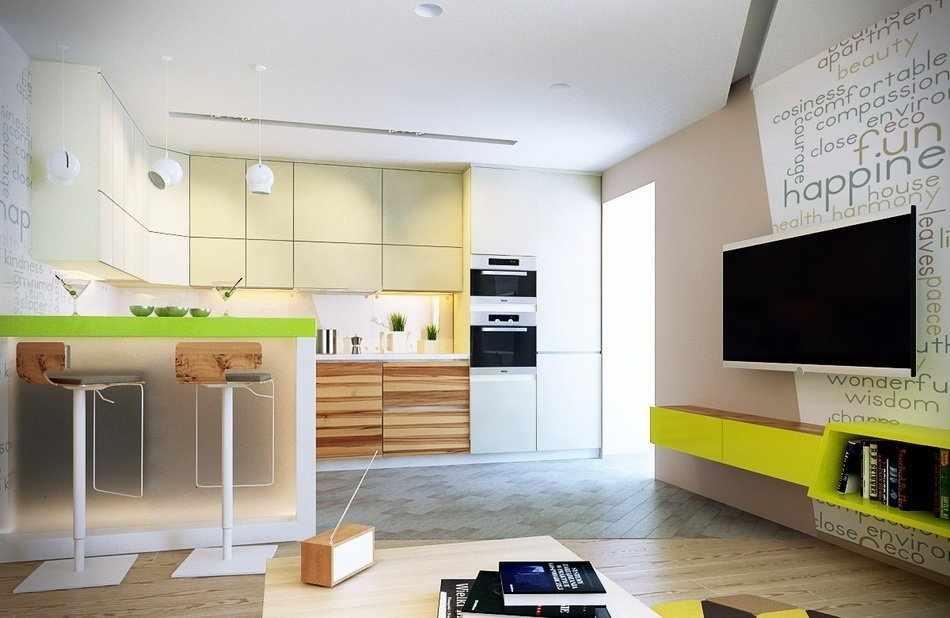 Кухня-студия в эко-стиле