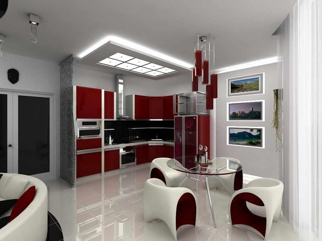 Кухня-студия в современном стиле