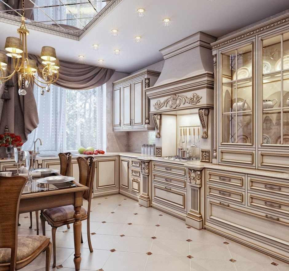 Кухня в классическом стиле в доме