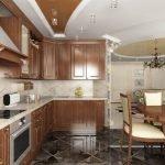 Керамическая плитка на кухонном полу