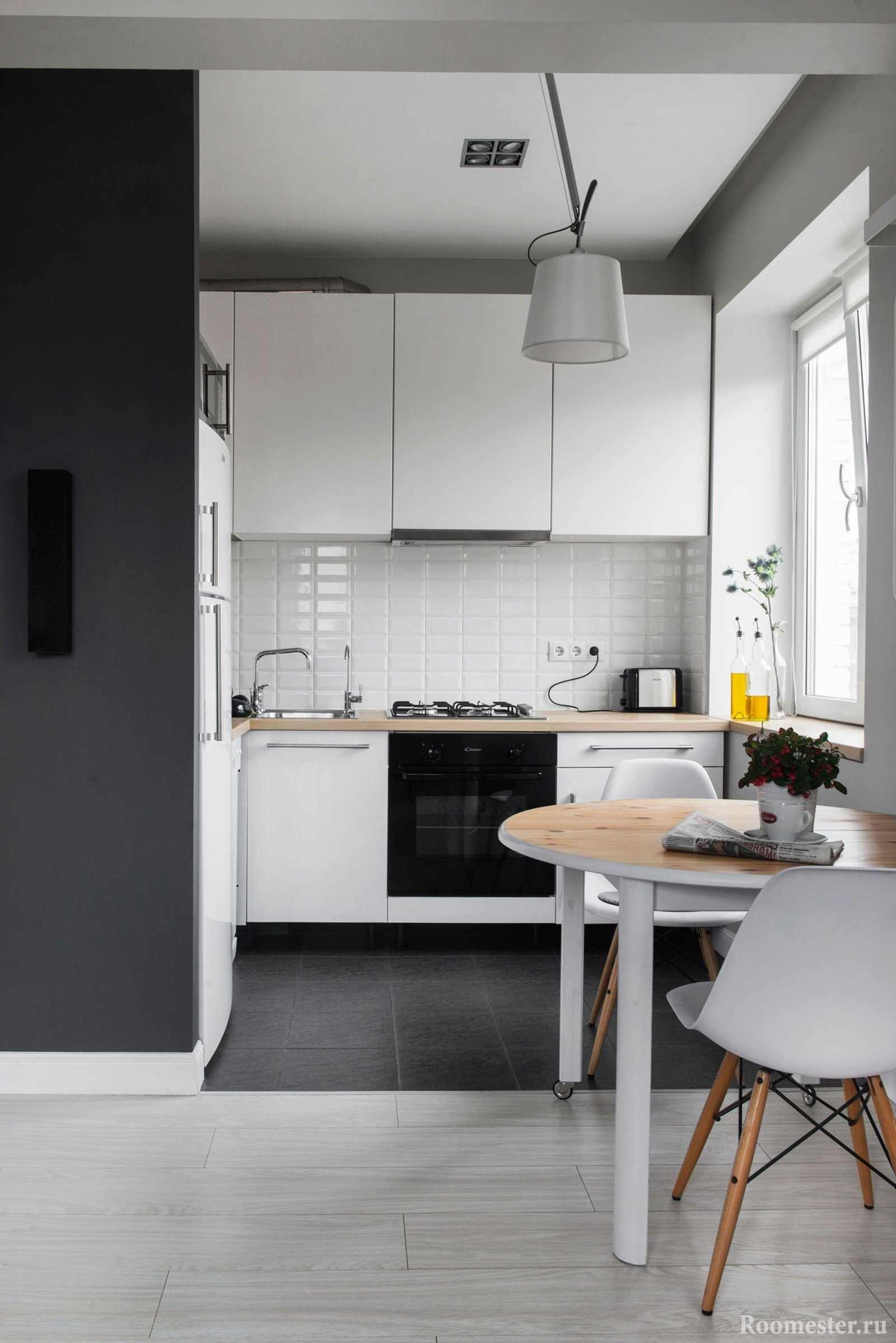 Кухня с перепланировкой