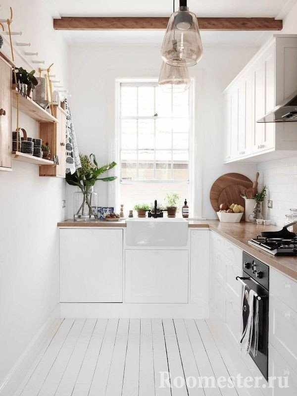 Г-образная кухня - угловая