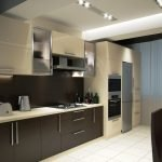 Кухня в стиле хай-тек в квартире