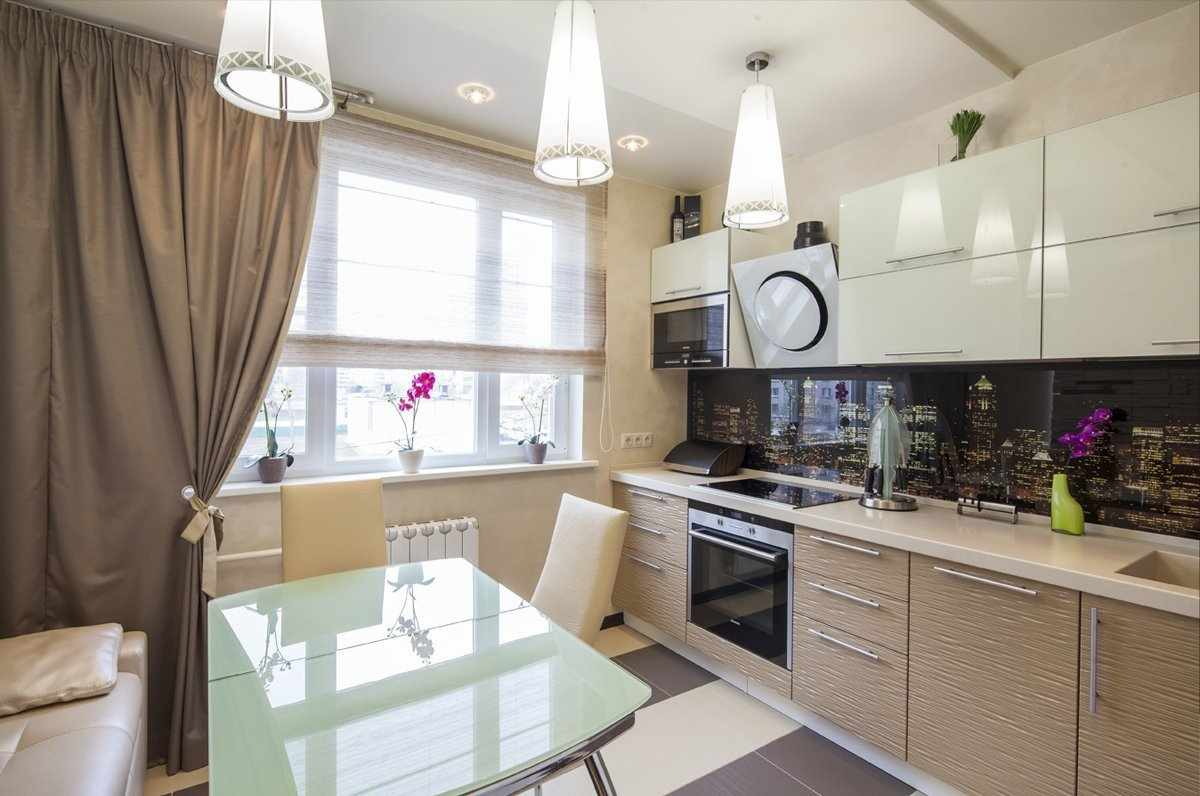 Кухня в светлых тонах в квартире