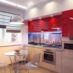 Прозрачные столик и стулья на кухне