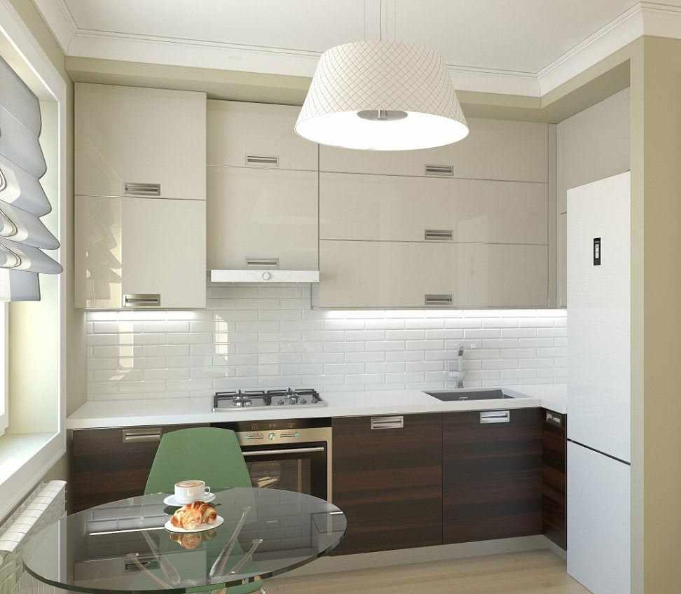 Кухня в квартире с обеденной зоной