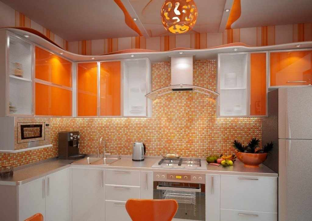 Кухня с угловой планировкой в квартире