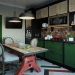 Простор на кухне в стиле лофт