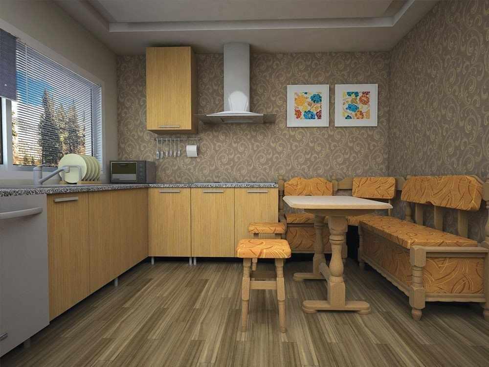 Современный дизайн кухни с уголком