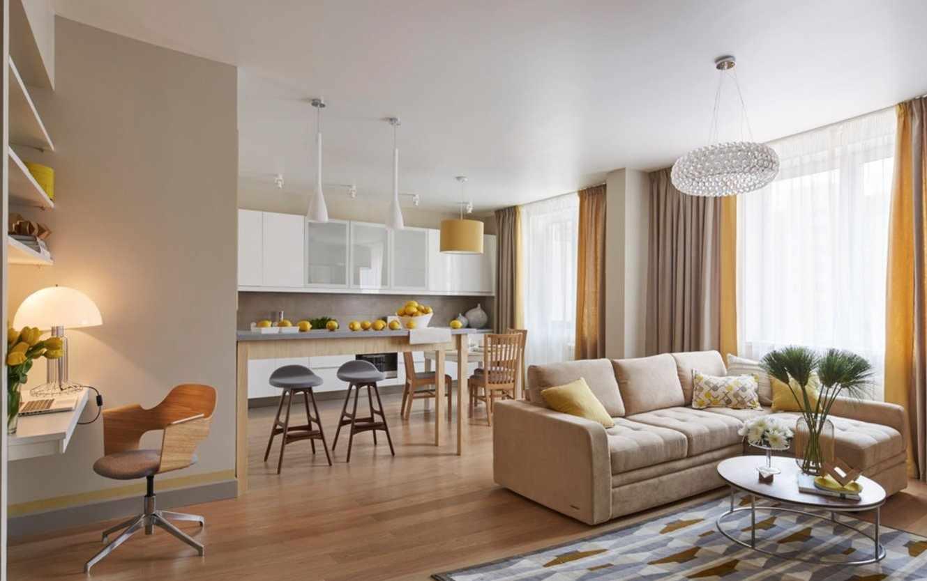 Как расставить мебель в кухне-гостиной