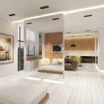 Светлая комната в стиле модерн