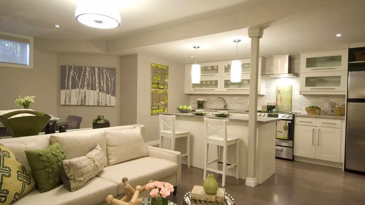 Кухня-гостиная в квартире 45 кв м