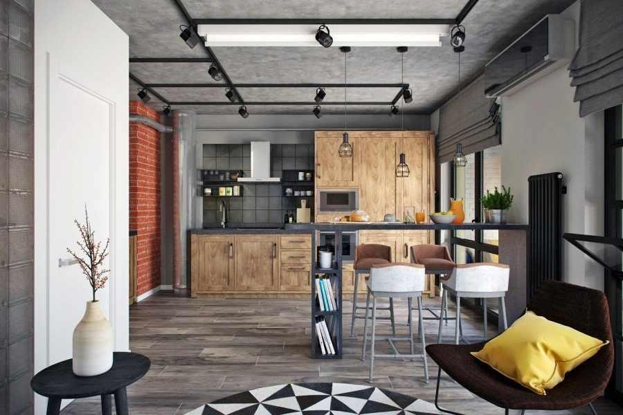 Квартира 50 кв м в стиле лофт