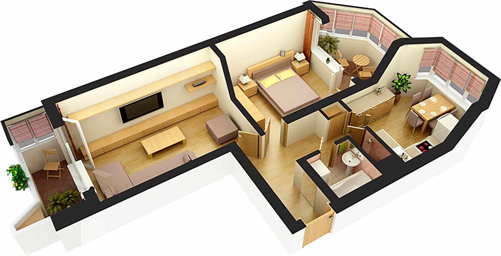 3Д-проект просторной квартиры