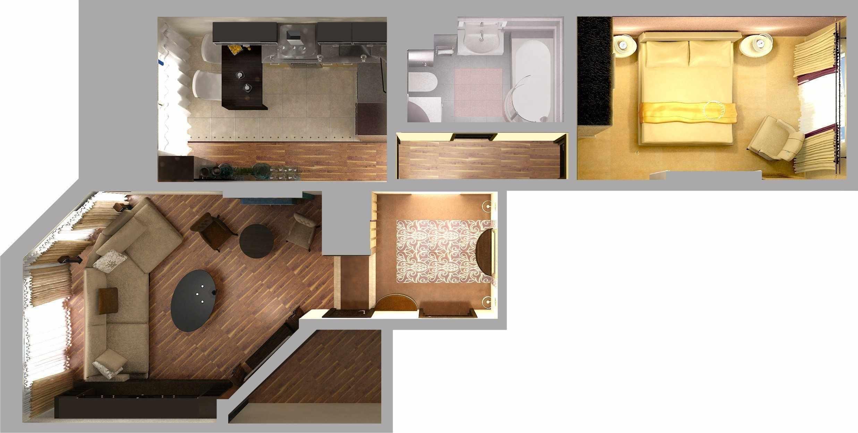 Сквозная планировка современной квартиры