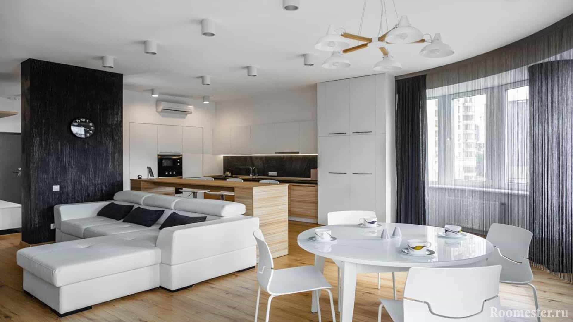 Квартира с округленной стеной