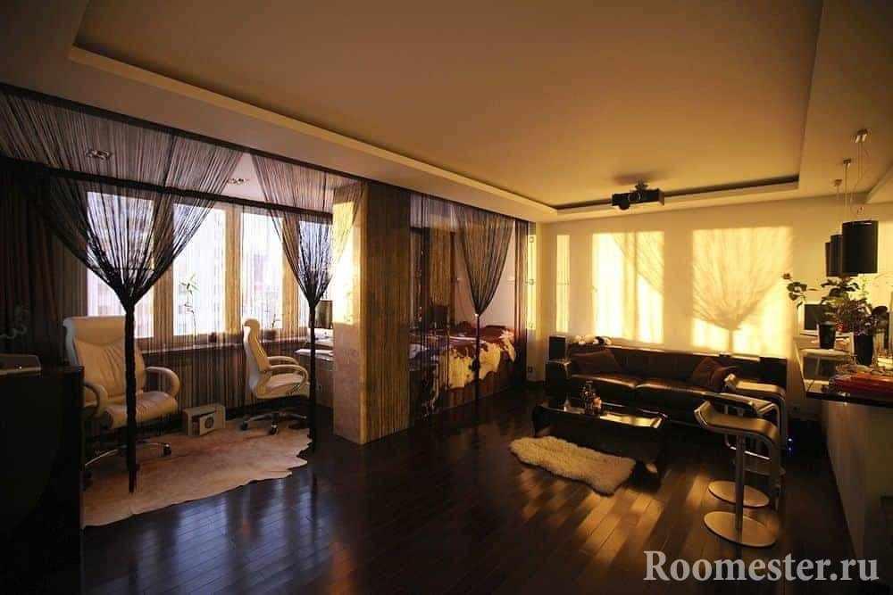 Квартира-студия со спальней и гостиной-кухней