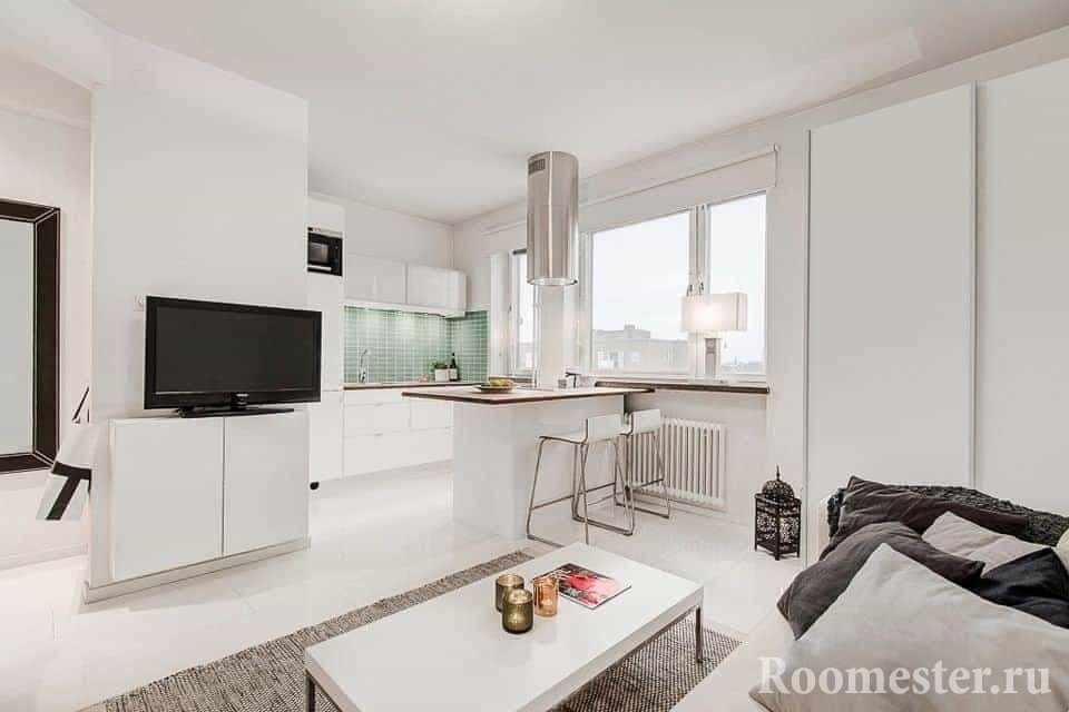 Белая и светлая квартира