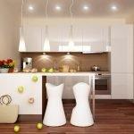 Ламинат в дизайне кухни