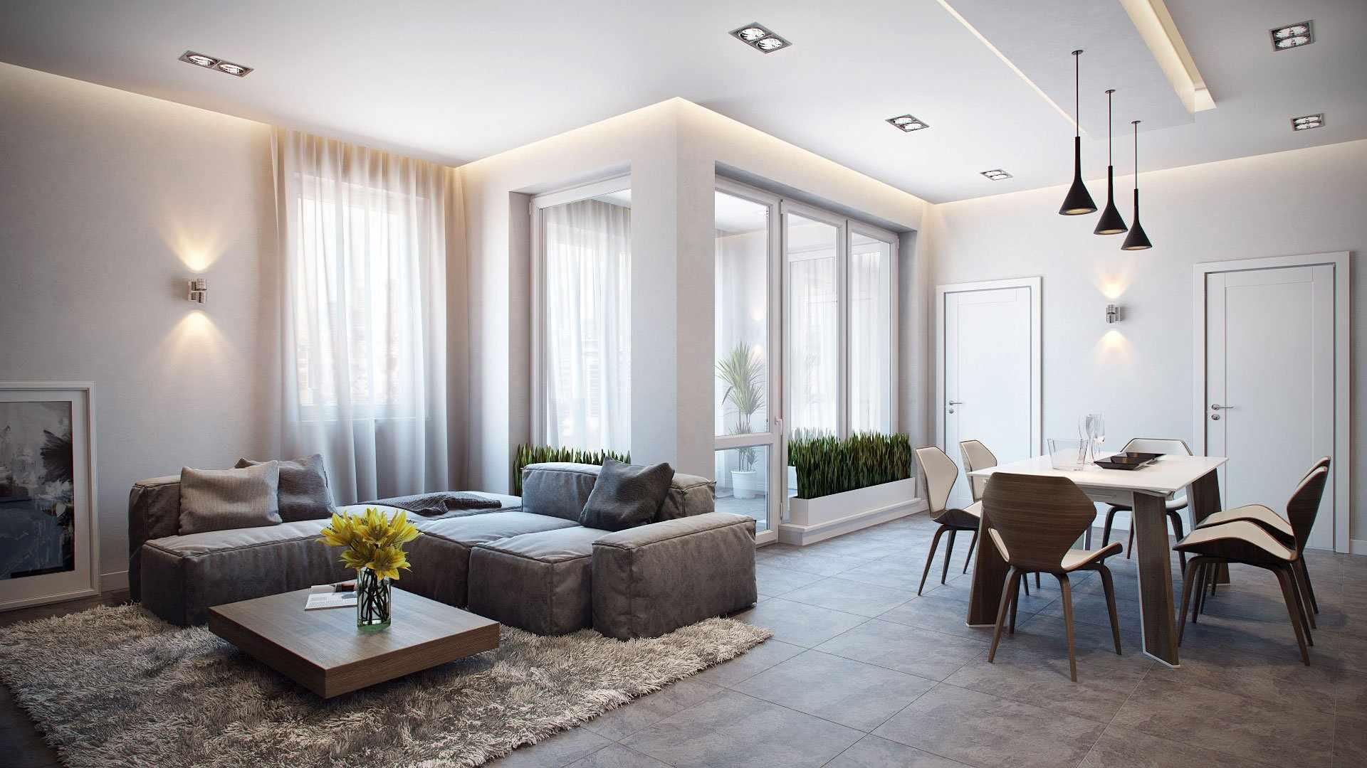 Зонирование просторной квартиры
