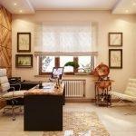 Панели из дерева в кабинете