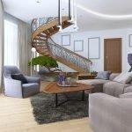 Лестница с фигурными поручнями