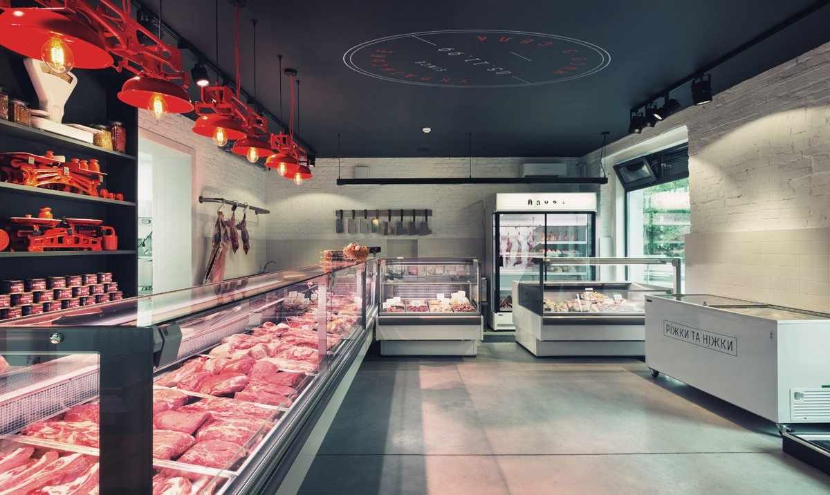 Дизайн мясной лавки