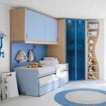 Голубая мебель в детской