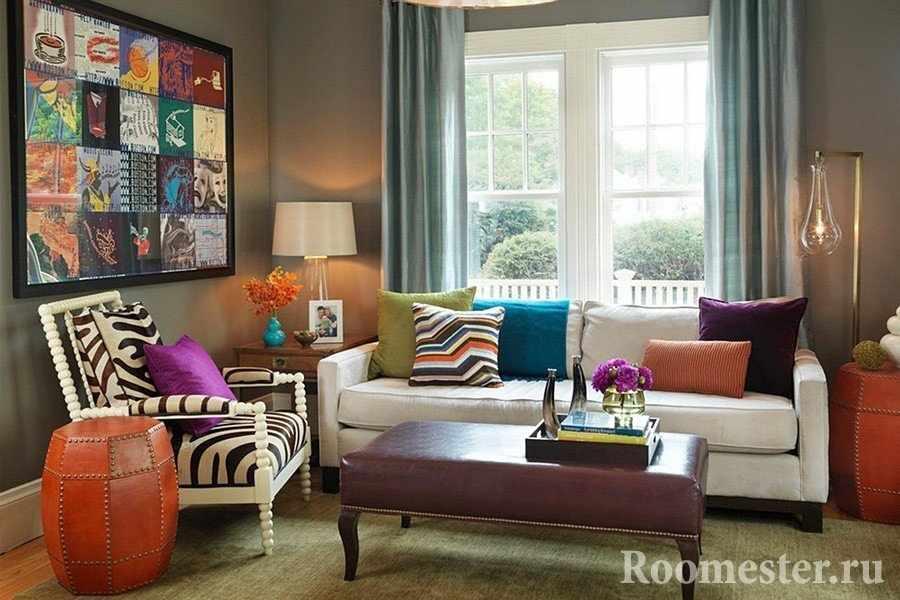 Гостиная комната в современном стиле