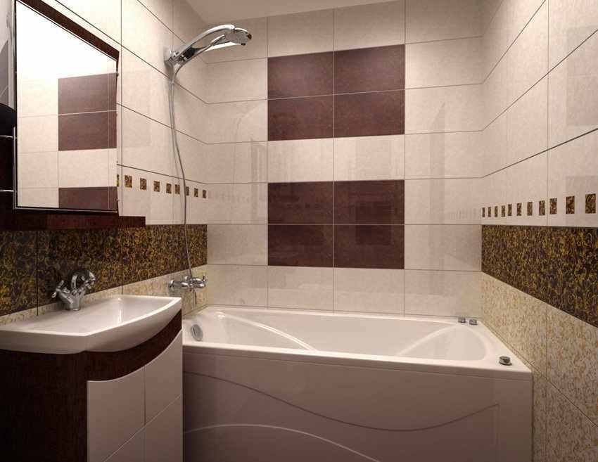 Интерьер малогабаритной ванной