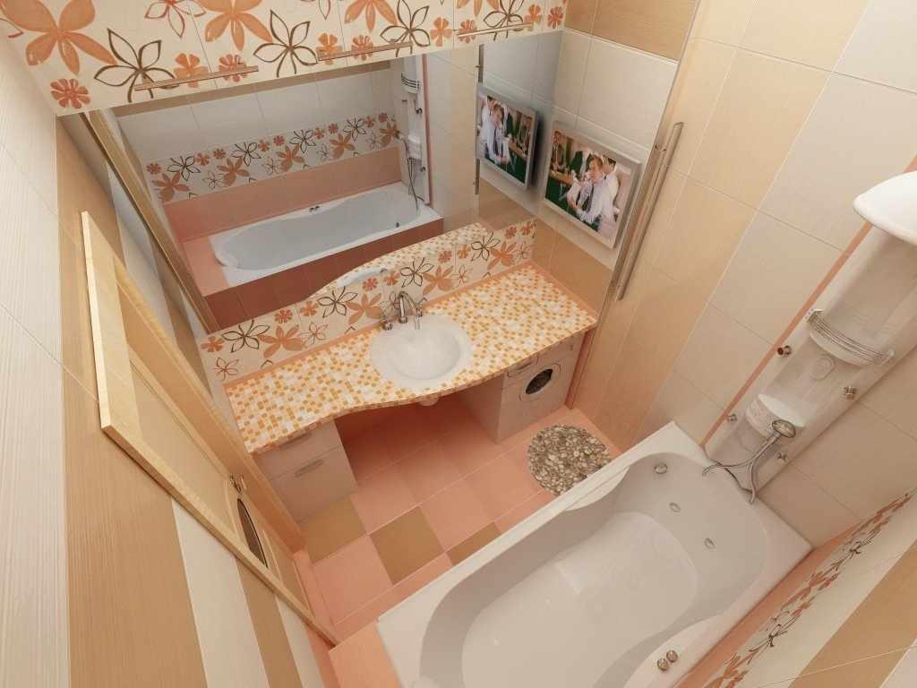 Визуальное увеличение пространства малогабаритной ванной при помощи зеркала