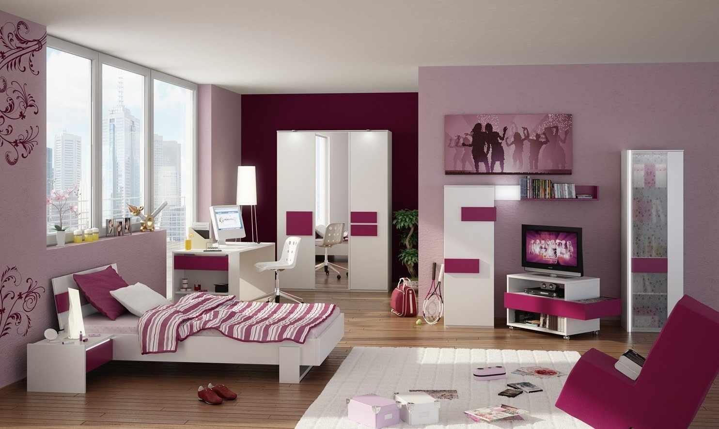 Зонирование пространства в комнате для девушки