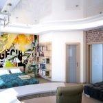 Молодежная комната в современном стиле