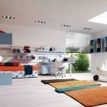 Большая комната для подростка в стиле минимал