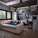 Небольшая комната для подростка с диваном