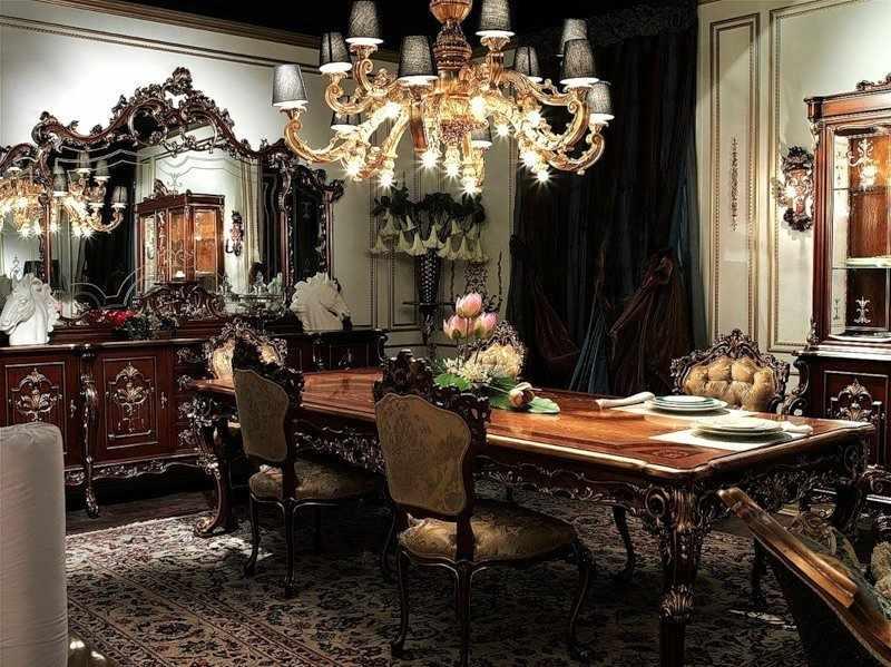 Интерьер столовой в готическом стиле