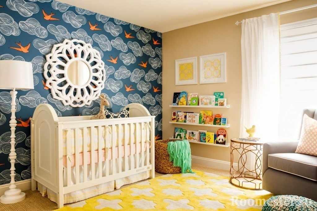 Акцентная стена в детской комнате