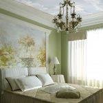 Фреска на стене спальни