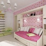 Бело-розовая детская