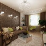 Зонирование комнаты на гостиную и кабинет