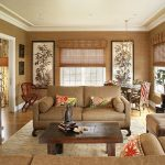 Бамбуковые обои в гостиной