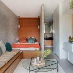 Кровать в уютном месте